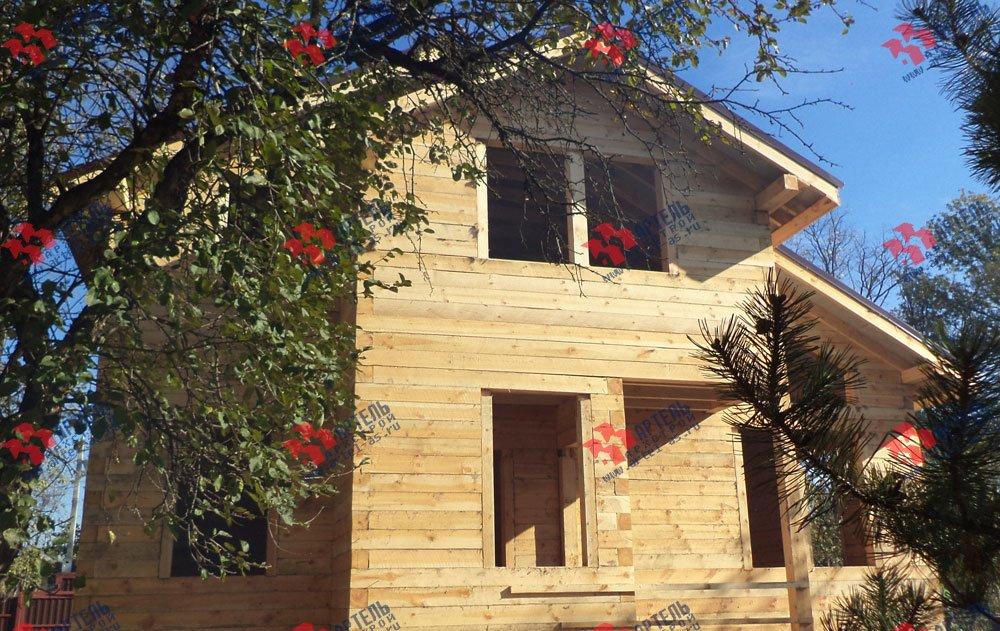 дом из профилированного бруса построенный по проекту Вариант 5.6 А фотография 3257