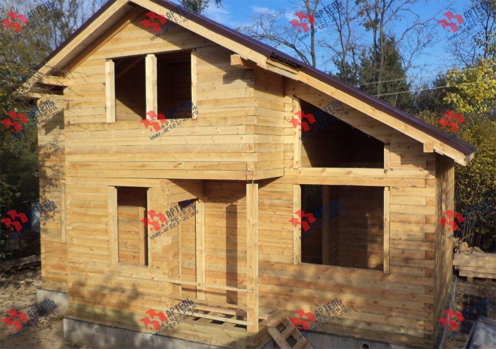 дом из профилированного бруса построенный по проекту Вариант 5.6 А фотография 3258