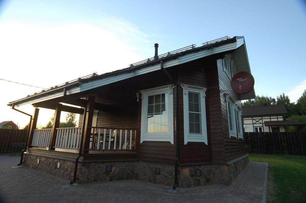 дом из профилированного бруса построенный по проекту Вариант 6 Л фотография 5977