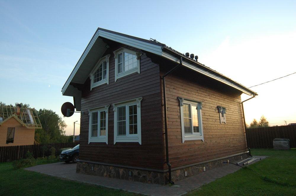 дом из профилированного бруса построенный по проекту Вариант 6 Л фотография 5981
