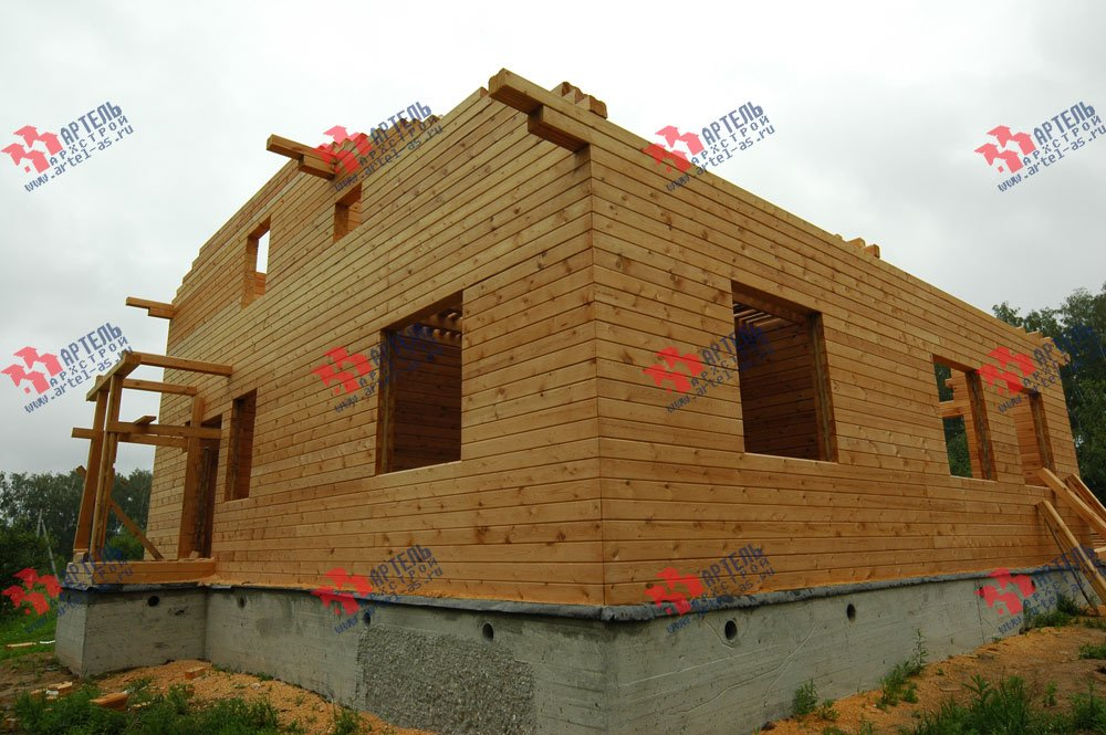 дом из бруса построенный по проекту Вариант 11 Л-1 фотография 2637