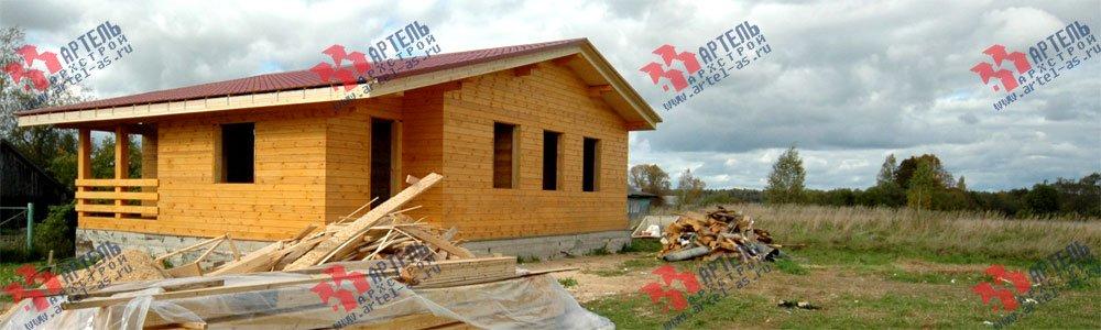 дом из профилированного бруса построенный по проекту Вариант 9.8 К фотография 2617