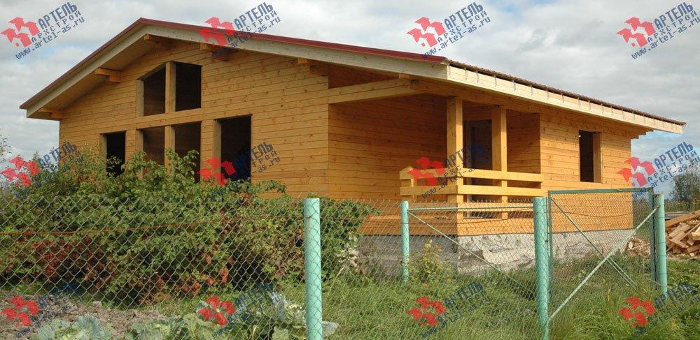 дом из профилированного бруса построенный по проекту Вариант 9.8 К фотография 2619