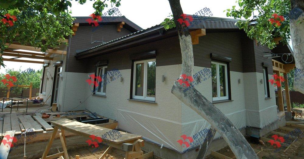 дом из профилированного бруса построенный по проекту Вариант 5 фотография 3145