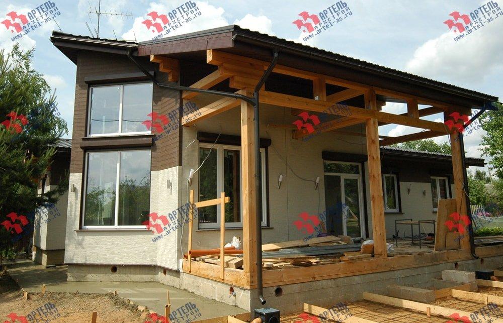 дом из профилированного бруса построенный по проекту Вариант 5 фотография 3146