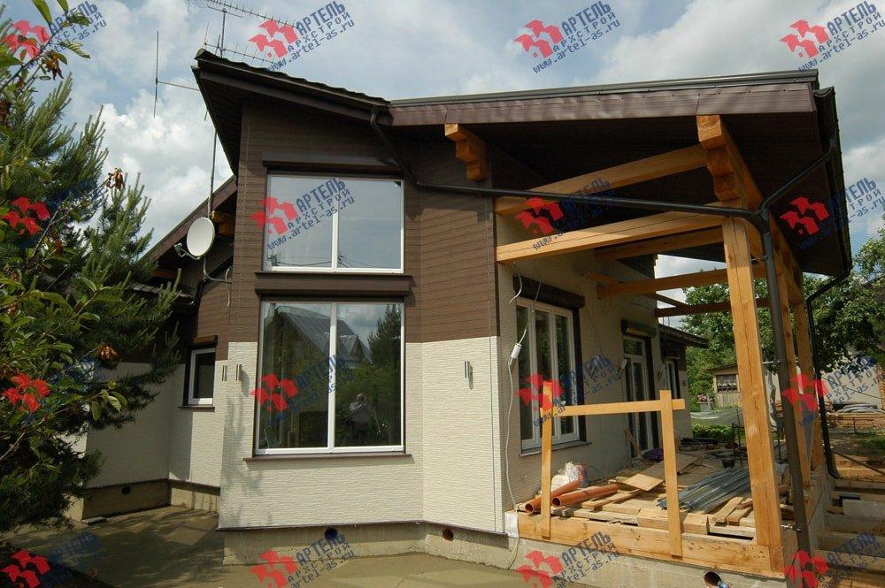 дом из профилированного бруса построенный по проекту Вариант 5 фотография 3147