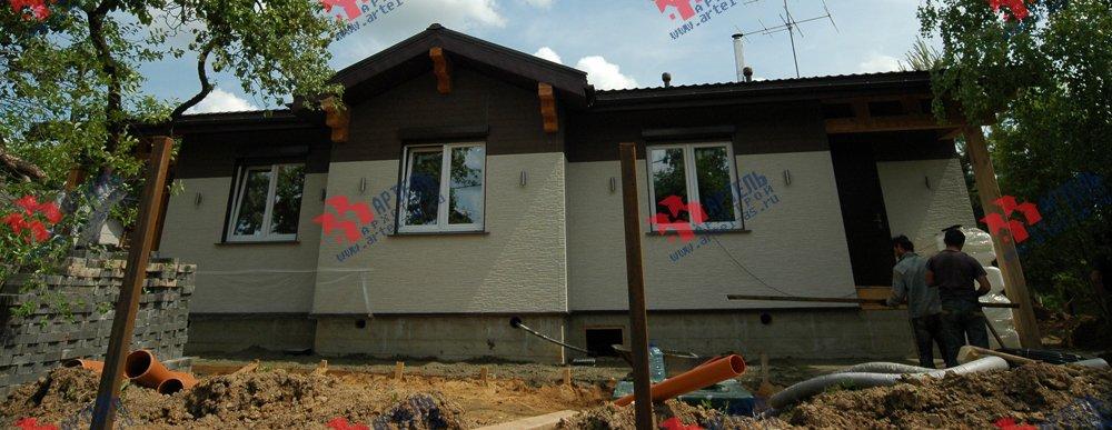 дом из профилированного бруса построенный по проекту Вариант 5 фотография 3149