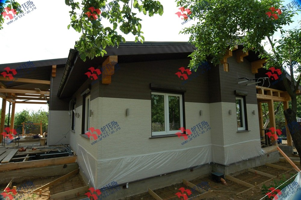 дом из профилированного бруса построенный по проекту Вариант 5 фотография 3152