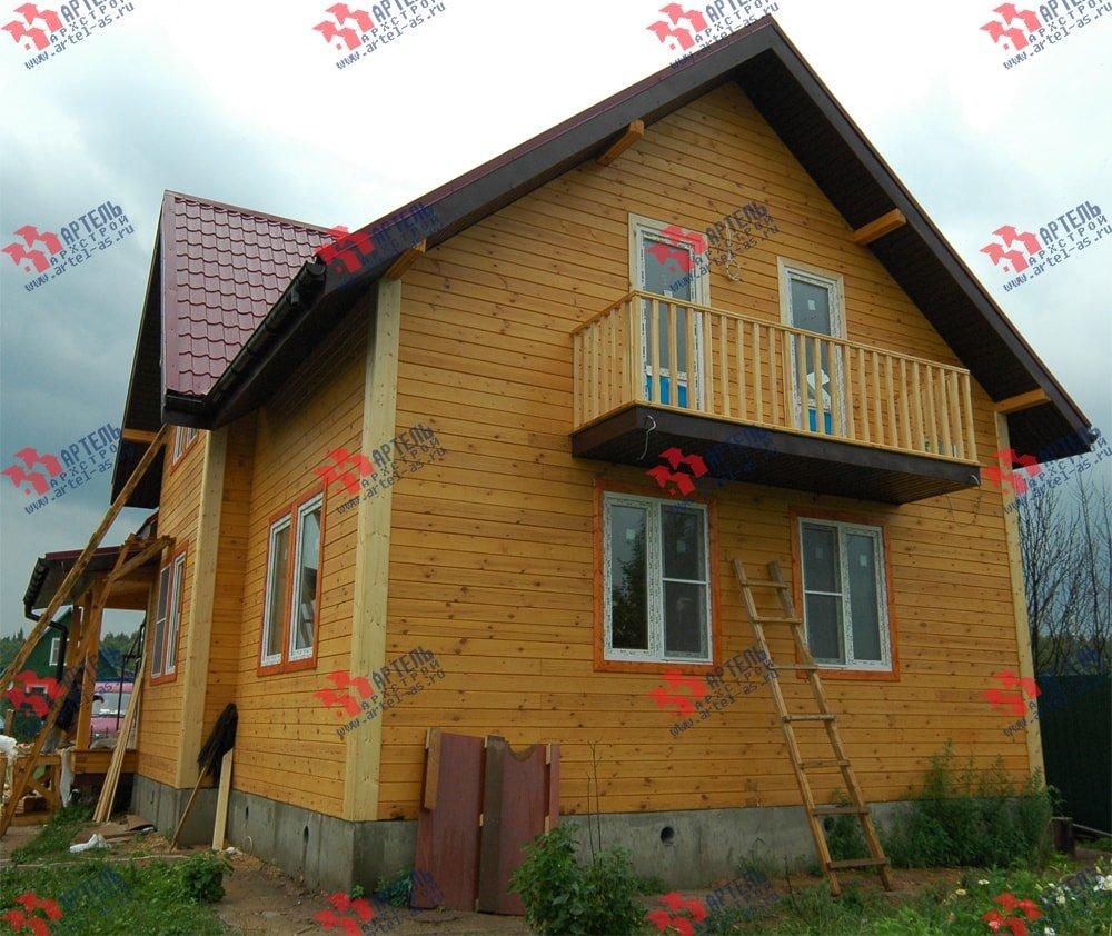 дом из бруса построенный по проекту Вариант 8.7 К фотография 2147