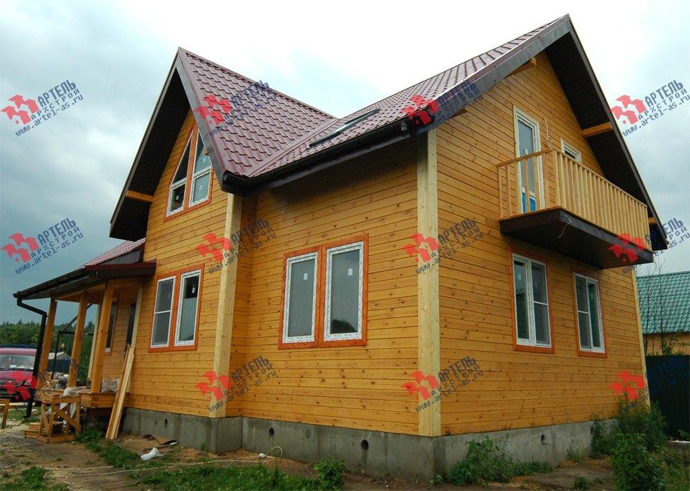 дом из бруса построенный по проекту Вариант 8.7 К фотография 2149