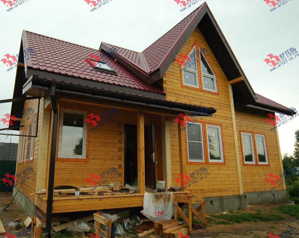 дом из бруса построенный по проекту Вариант 8.7 К фотография 2152