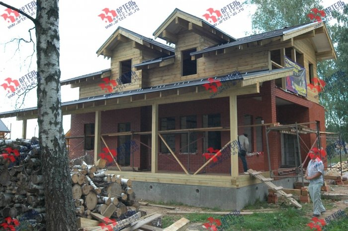 дом из профилированного бруса построенный по проекту Вариант 10.8 А фотография 4797