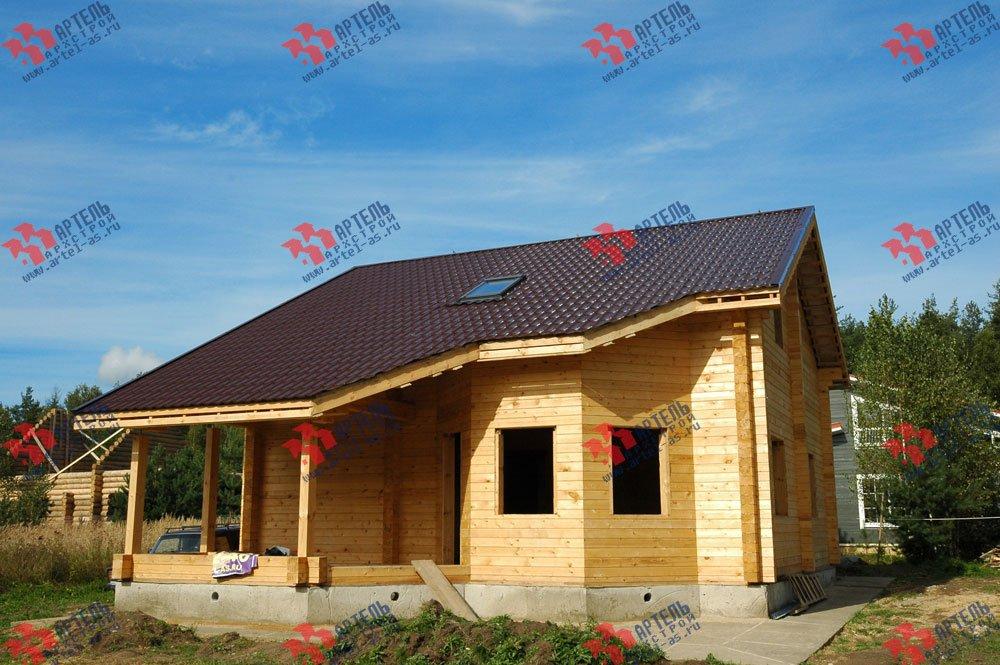 дом из профилированного бруса построенный по проекту Вариант 8.3 А фотография 3235