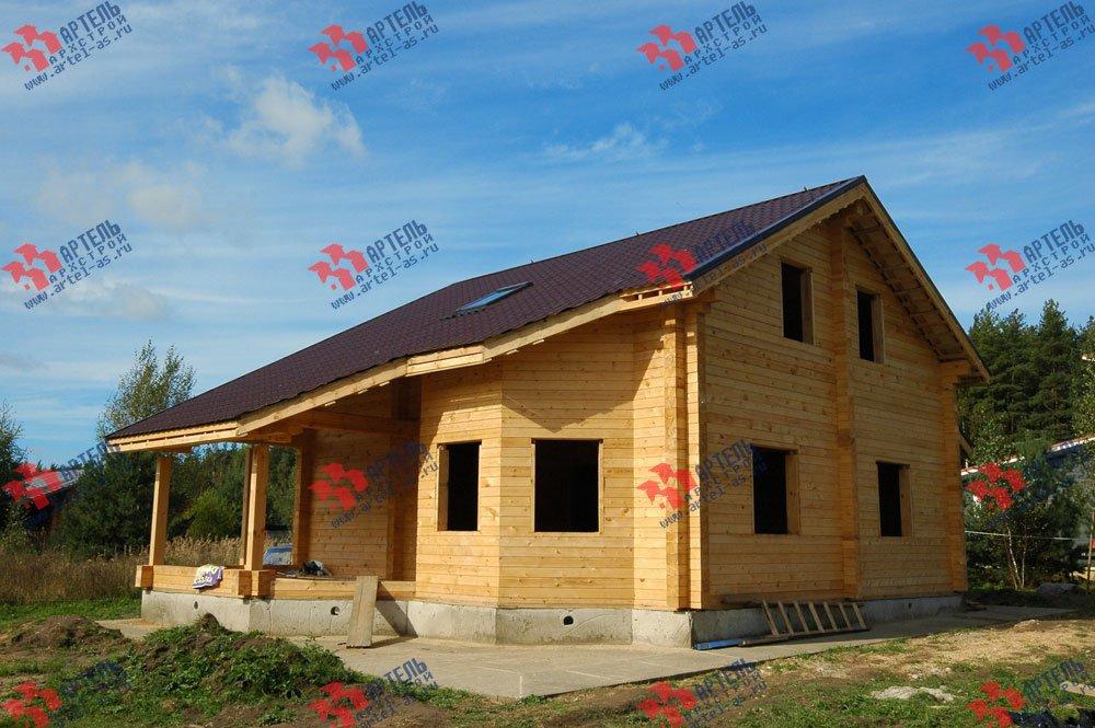 дом из профилированного бруса построенный по проекту Вариант 8.3 А фотография 3236