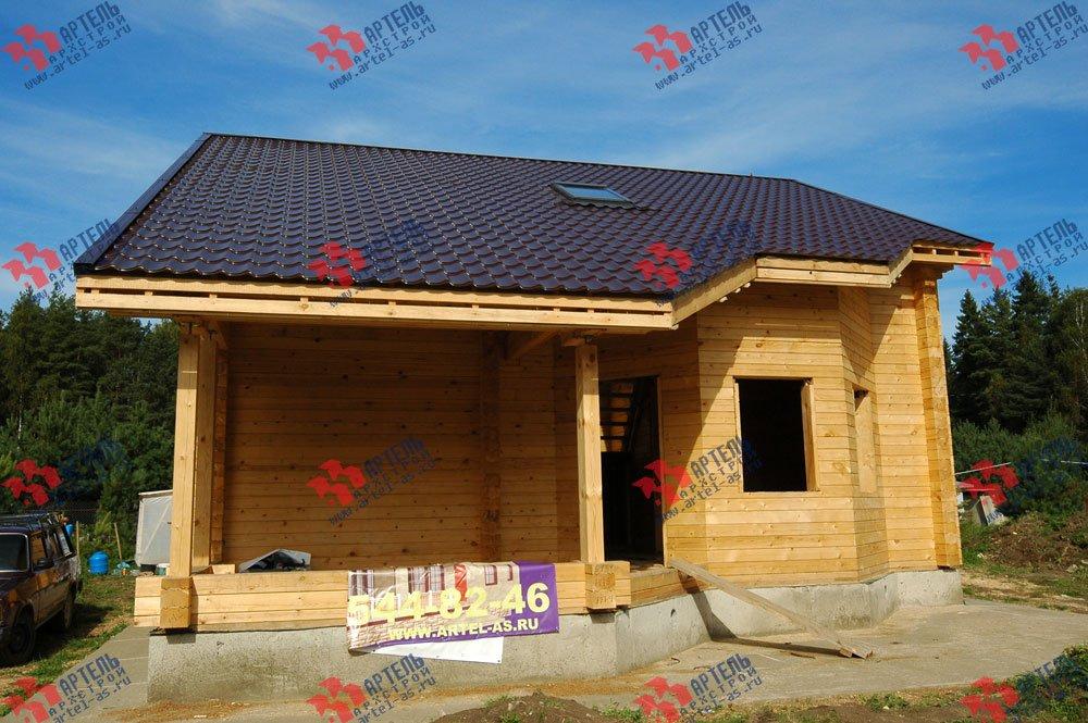 дом из профилированного бруса построенный по проекту Вариант 8.3 А фотография 3238