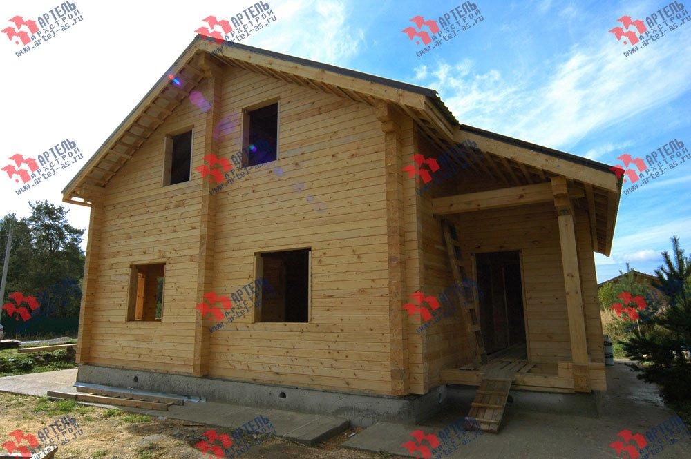дом из профилированного бруса построенный по проекту Вариант 8.3 А фотография 3240
