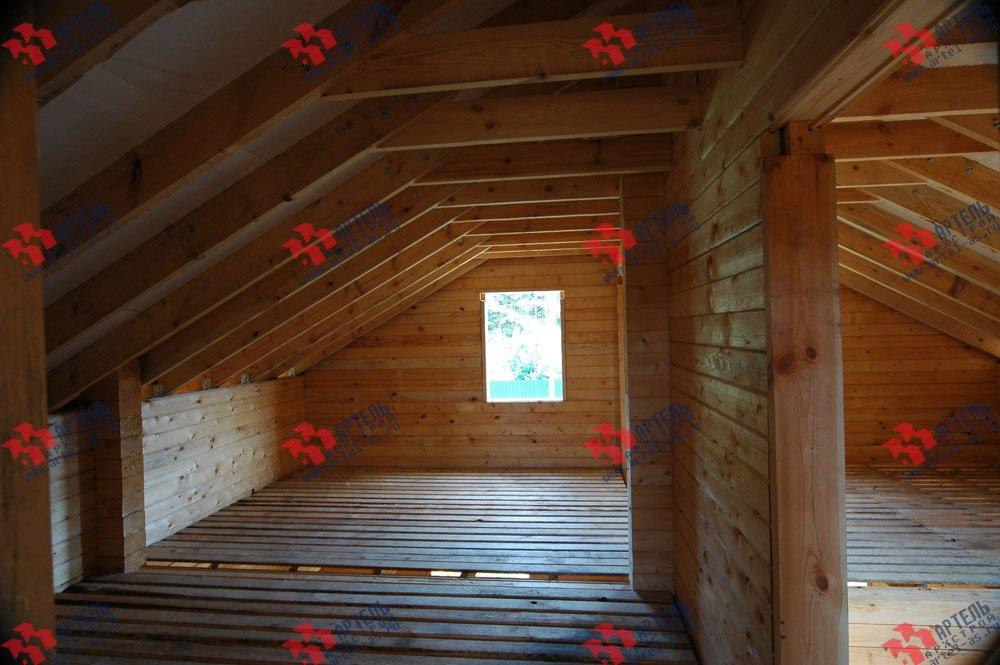 дом из профилированного бруса построенный по проекту Вариант 8.3 А фотография 3242