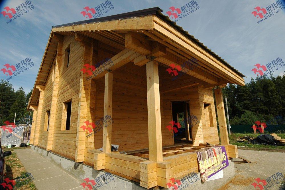 дом из профилированного бруса построенный по проекту Вариант 8.3 А фотография 3246