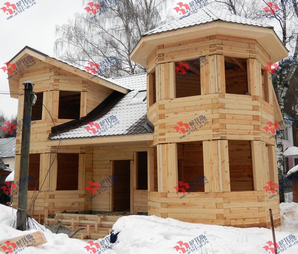 дом из бруса построенный по проекту Вариант 11.5 А фотография 2255