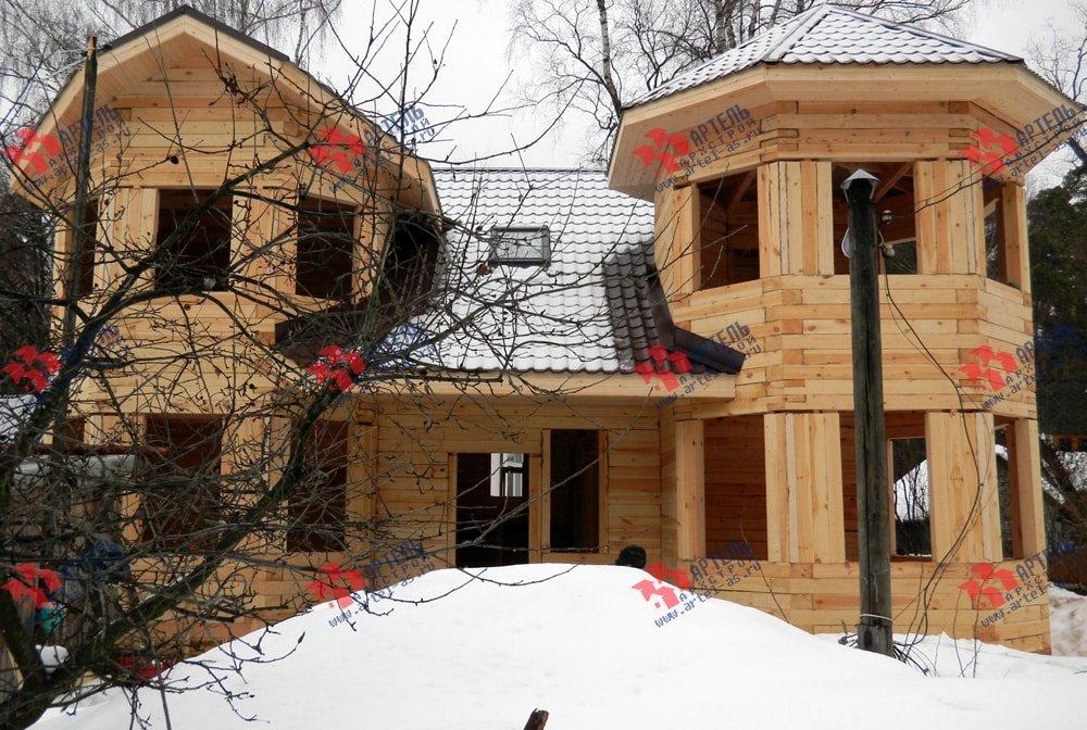 дом из бруса построенный по проекту Вариант 11.5 А фотография 2256