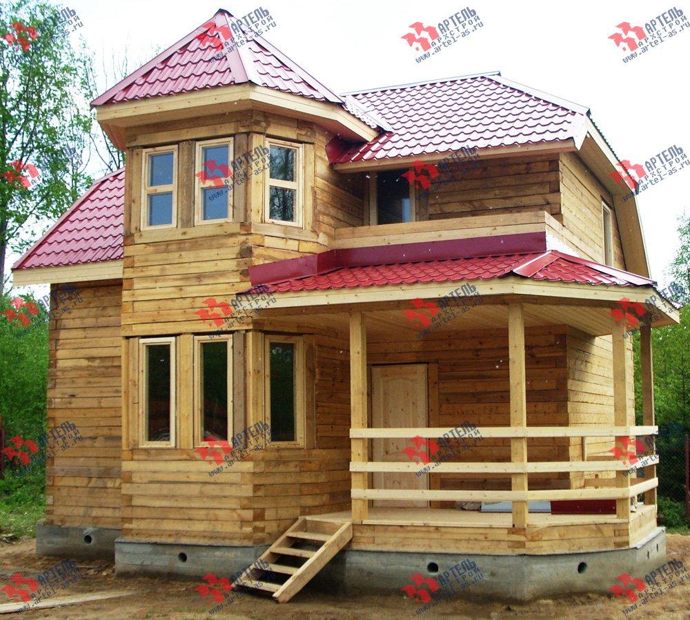 дом из профилированного бруса построенный по проекту Вариант 8 Л фотография 1758
