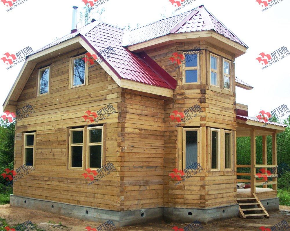 дом из профилированного бруса построенный по проекту Вариант 8 Л фотография 1759