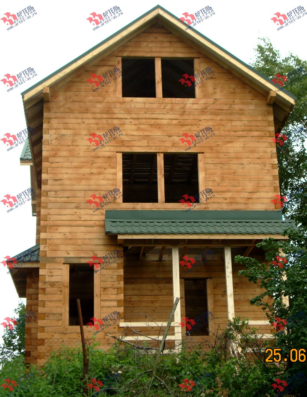 дом из бруса построенный по проекту Вариант 6.3 Н фотография 2312