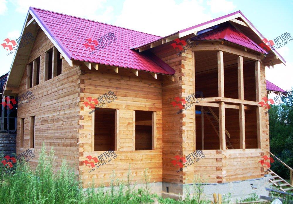 дом из профилированного бруса построенный по проекту Вариант 11 И фотография 1876