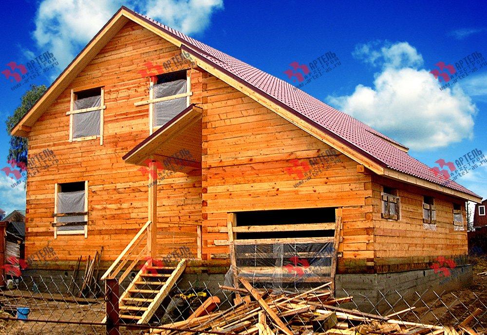 дом из бруса построенный по проекту Вариант 12.8 А фотография 1900