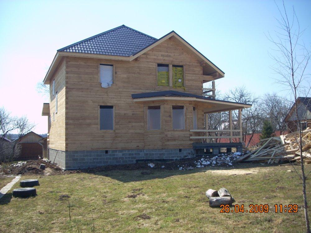 дом из профилированного бруса построенный по проекту Вариант 10.5 А фотография 5874