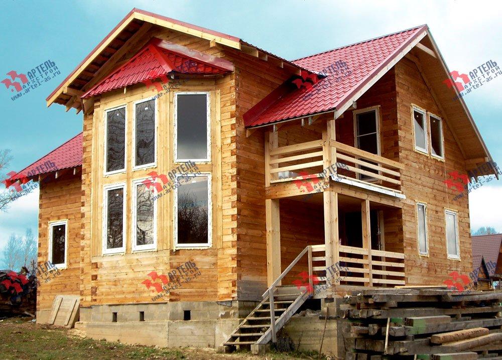 дом из профилированного бруса построенный по проекту Вариант 11 И фотография 1879