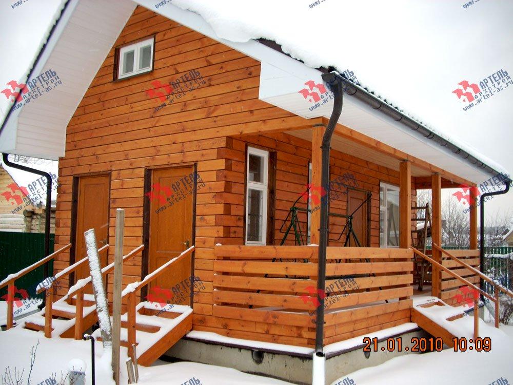 дом из профилированного бруса построенный по проекту Вариант 1 фотография 1601