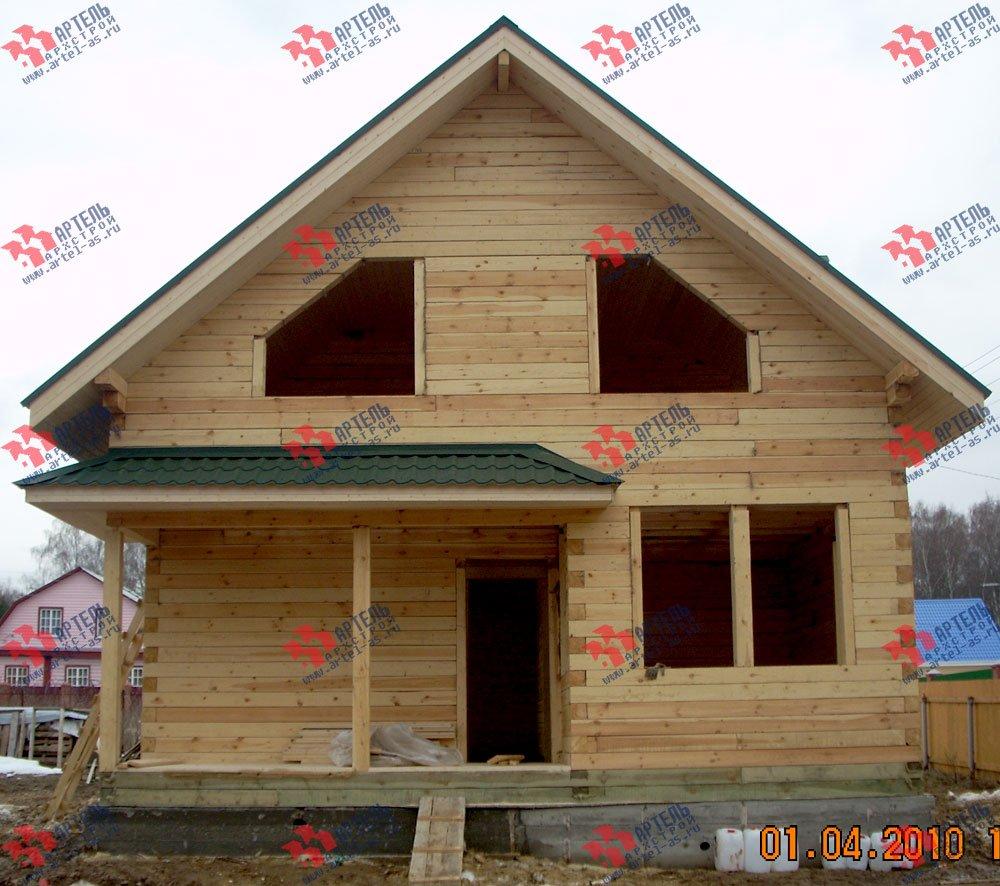 дом из профилированного бруса построенный по проекту Вариант 8.5 В фотография 1705