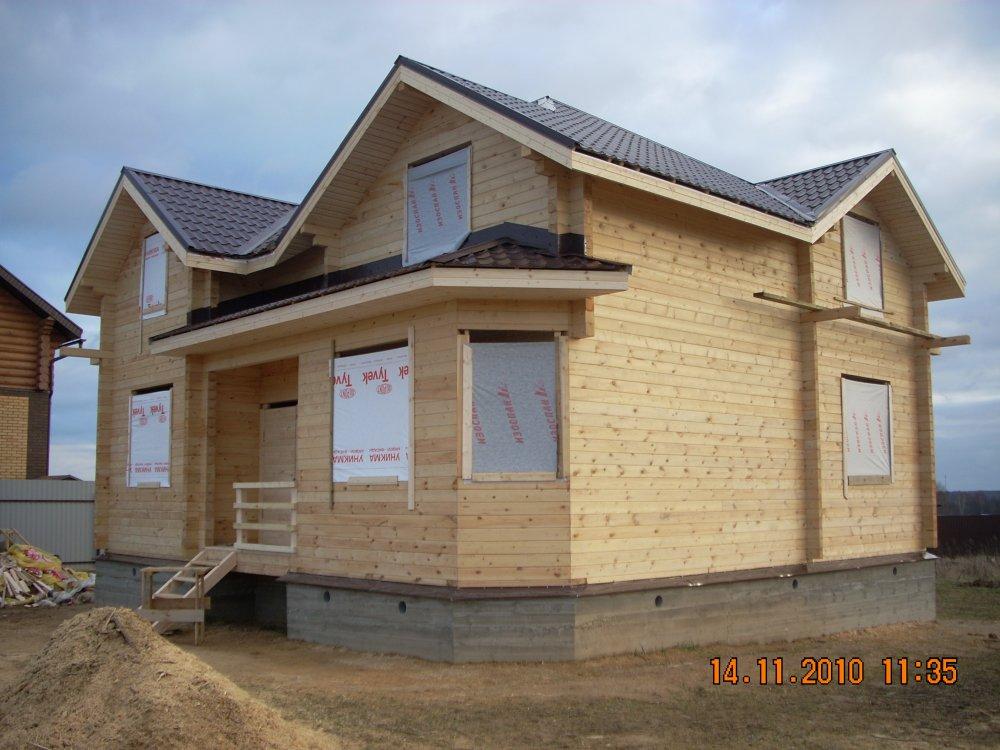 дом из бруса построенный по проекту Вариант 9 Г фотография 5799