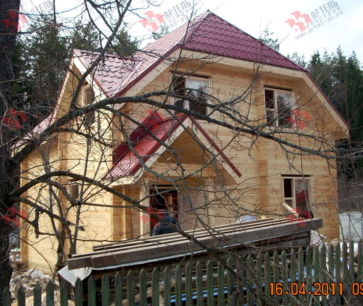 дом из профилированного бруса построенный по проекту Вариант 7 Г фотография 1682