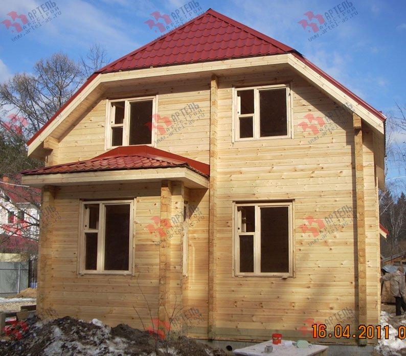 дом из профилированного бруса построенный по проекту Вариант 7 Г фотография 1683
