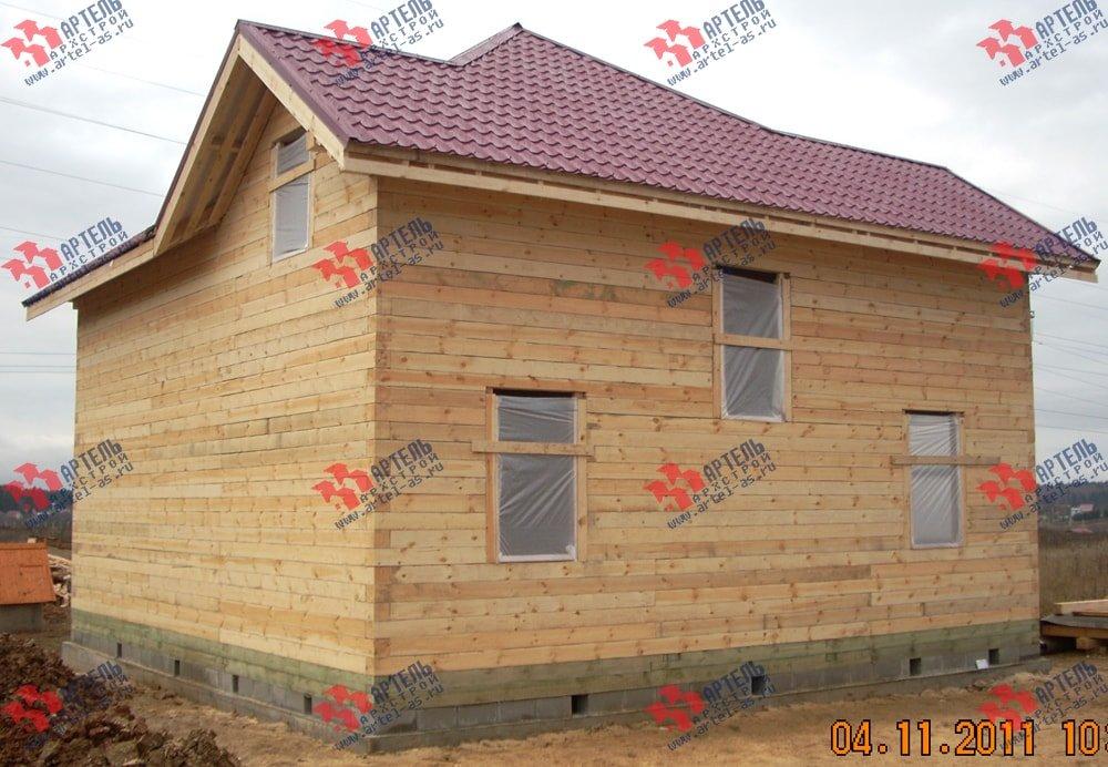 дом из бруса построенный по проекту Вариант 9 Г фотография 2240