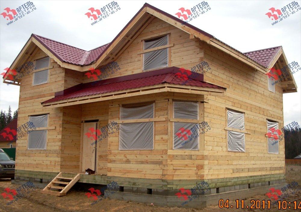 дом из бруса построенный по проекту Вариант 9 Г фотография 2237
