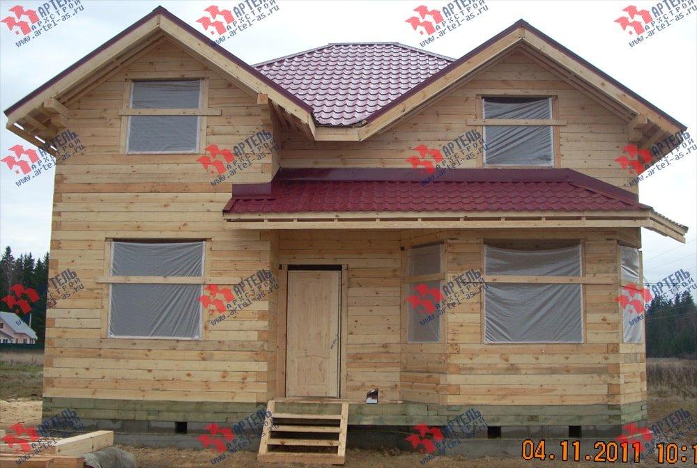 дом из бруса построенный по проекту Вариант 9 Г фотография 2242