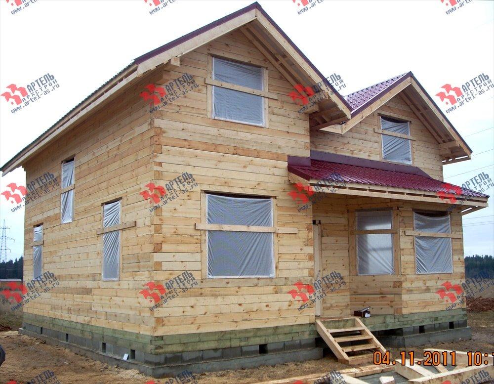 дом из бруса построенный по проекту Вариант 9 Г фотография 2238