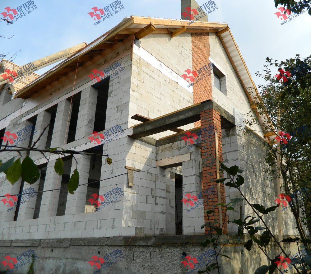 дом из камня построенный по проекту Вариант 24 фотография 2835