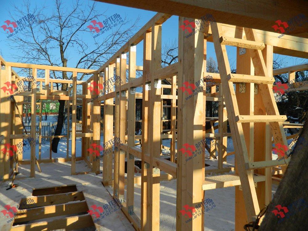 дом из профилированного бруса построенный по проекту Вариант 5 фотография 2919