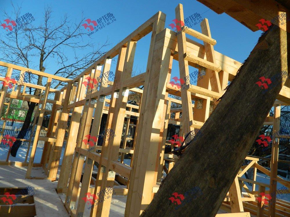 дом из профилированного бруса построенный по проекту Вариант 5 фотография 2920