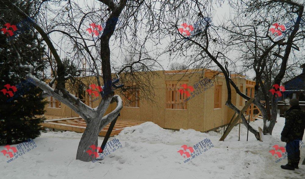 дом из профилированного бруса построенный по проекту Вариант 5 фотография 2921