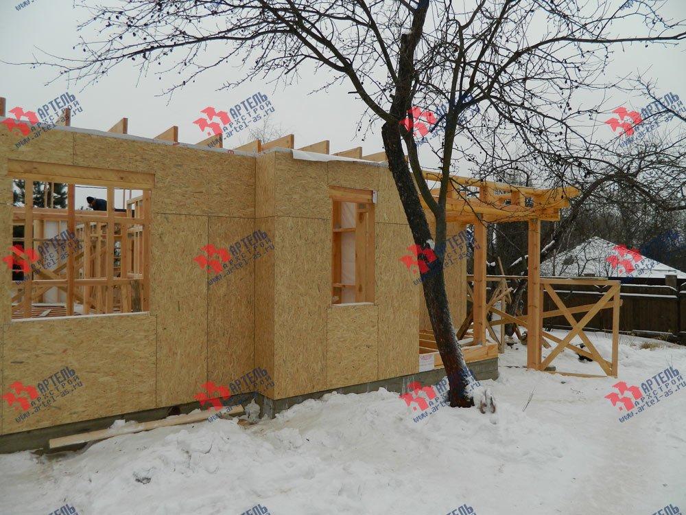 дом из профилированного бруса построенный по проекту Вариант 5 фотография 2960
