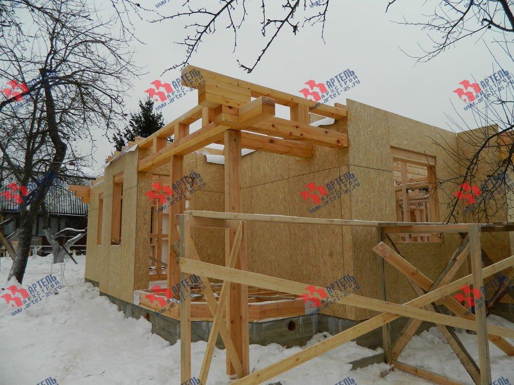 дом из профилированного бруса построенный по проекту Вариант 5 фотография 2961