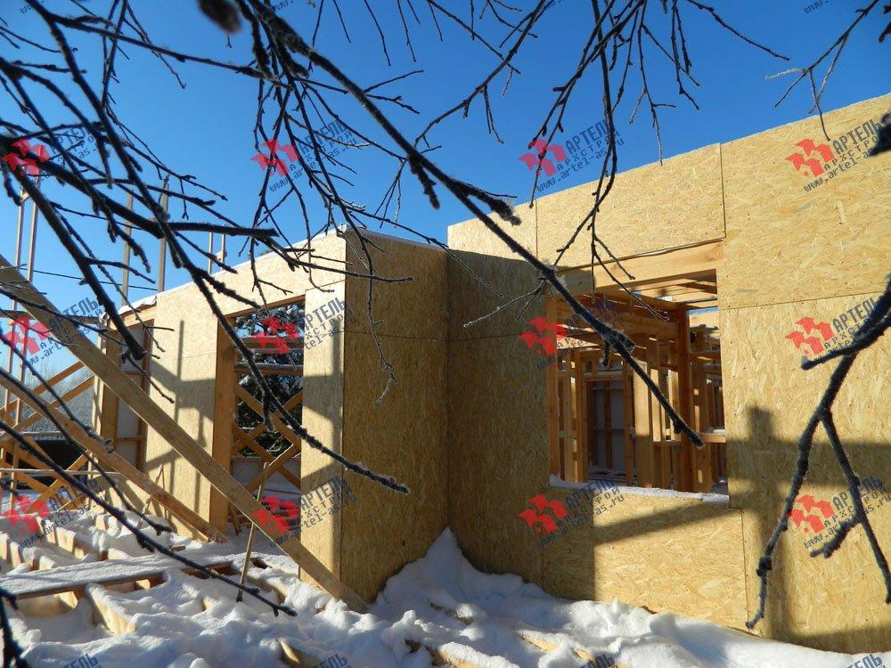 дом из профилированного бруса построенный по проекту Вариант 5 фотография 2966