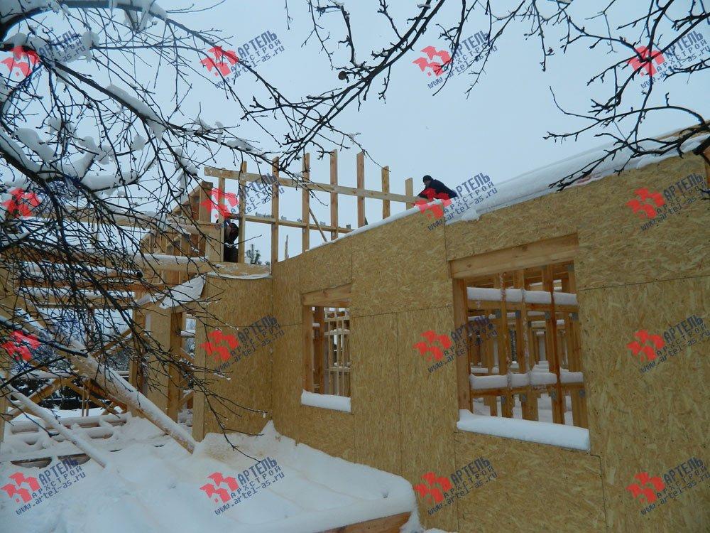 дом из профилированного бруса построенный по проекту Вариант 5 фотография 2972