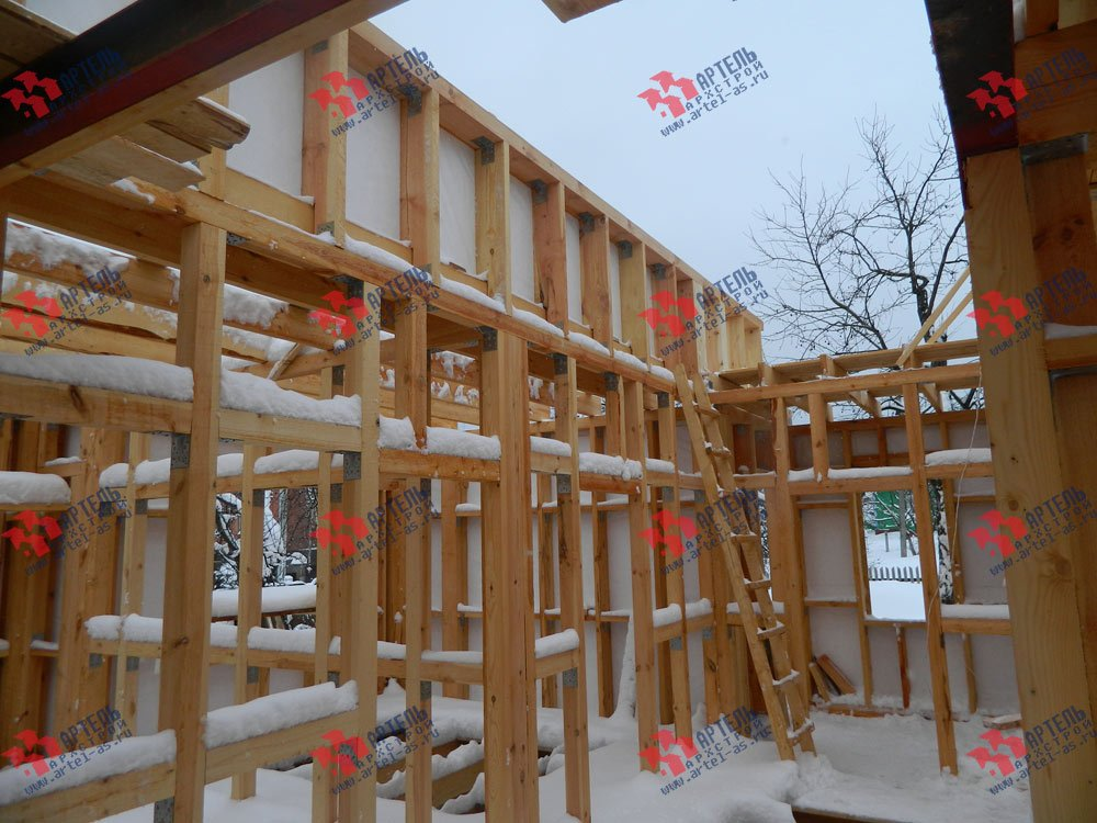 дом из профилированного бруса построенный по проекту Вариант 5 фотография 2973