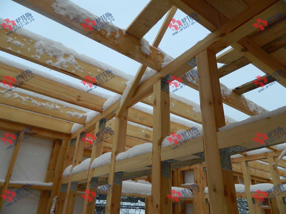 дом из профилированного бруса построенный по проекту Вариант 5 фотография 2974
